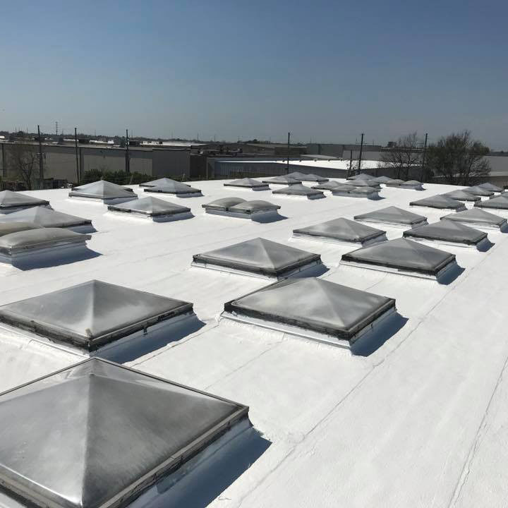 Commercial Roof with Skylights