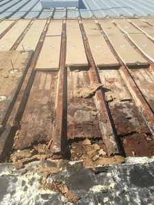 Broken Decking on Roof