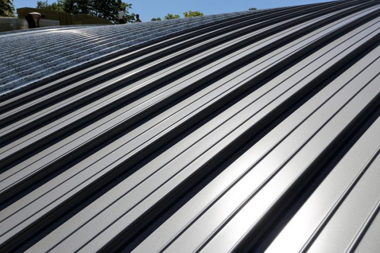Snap Lock Metal Roofing System on Building
