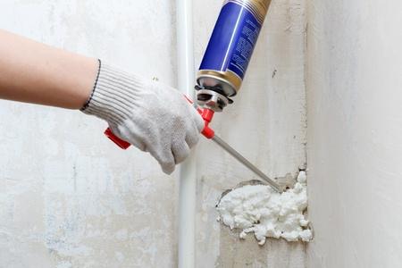 Contractor Using SPF Foam