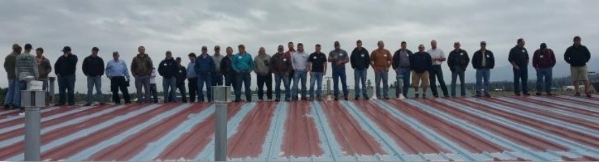 Contractors On Metal Roof