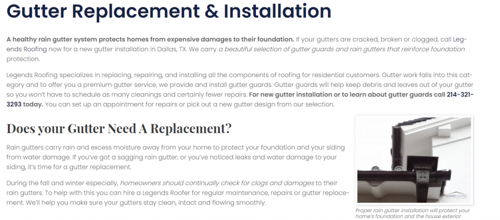Dallas Roofing Content