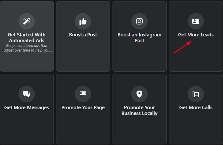 Facebook Ad Screen