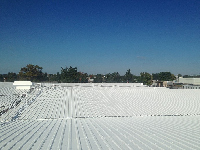 Freshly Coated White Rooftop