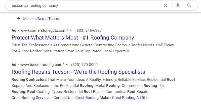 Google Ads for Roofers