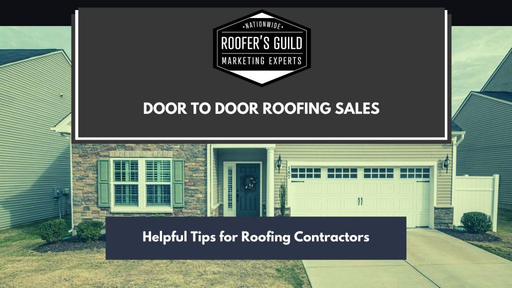 How To Sell Roofs Door To Door