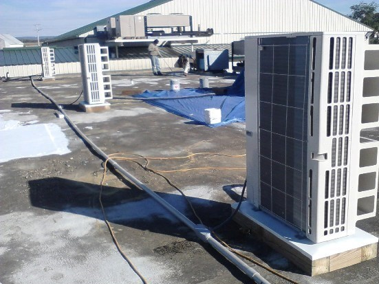 HVAC Unit On Top of Roof