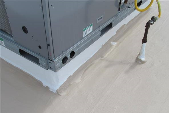 Equipment Edges Protected by Commercial Roof Coatings