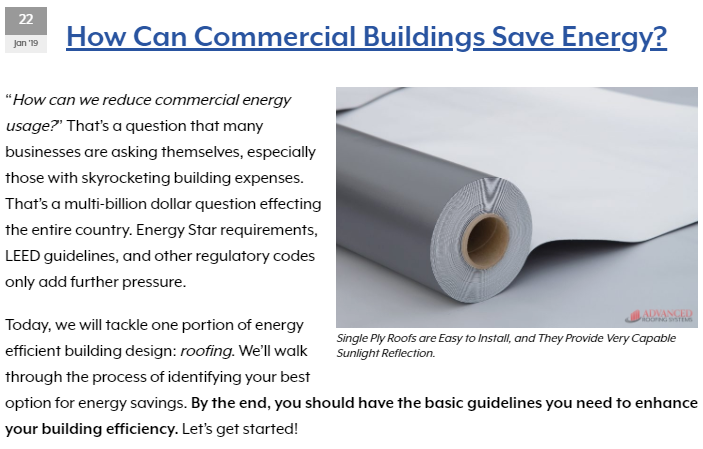 Metal Roofing Mentioned in a LEED Building Article