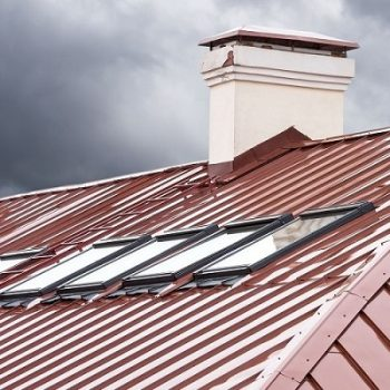 A Mechanical Lock Metal Roof During a Storm