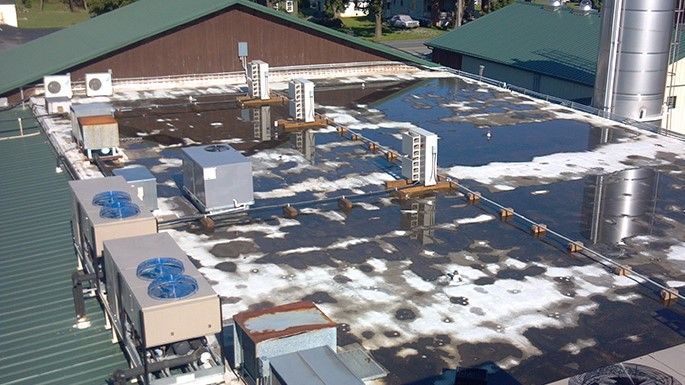 Roof View of Industrial Plant