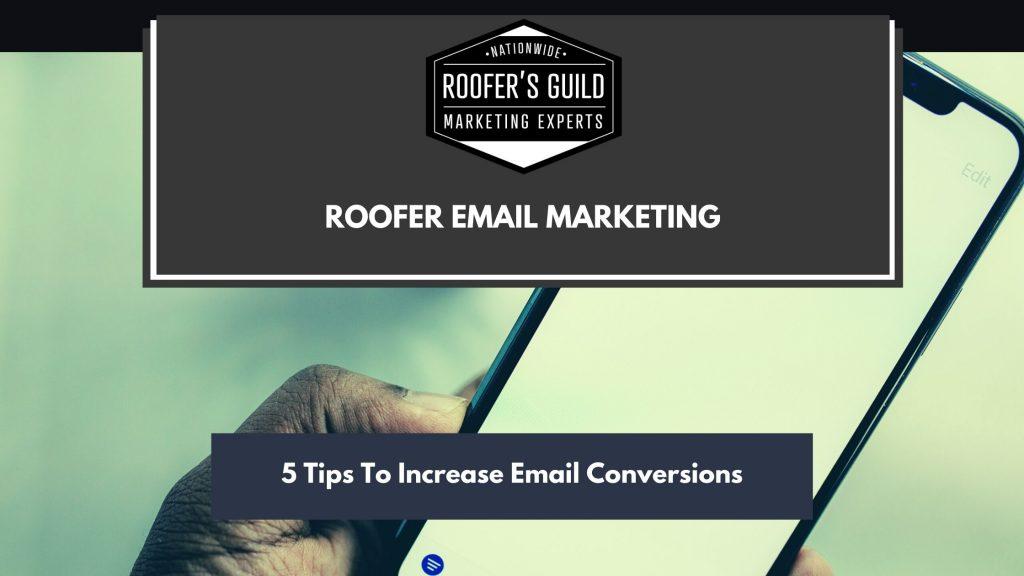 Roofer Email Marketing