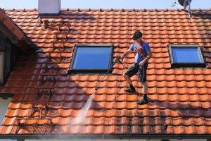 Roofer on Spanish Tile
