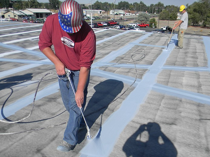 Roofer Performs Business Office Building Repairs
