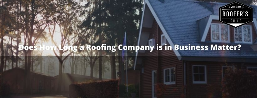Roofing Company Business Age
