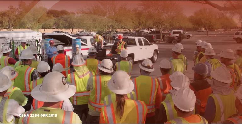 A Team Undergoes OSHA Safety Training