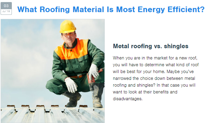 A Roofing Company Writes a Blog for Content Marketing