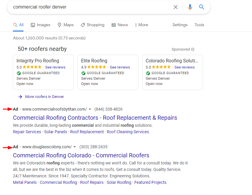 Roofing PPC Ads