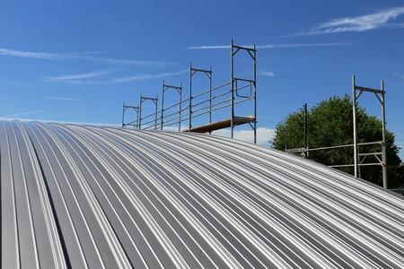 Sky View Of Metal Roof